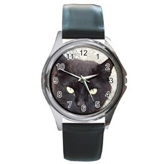 Manx Round Metal Watch
