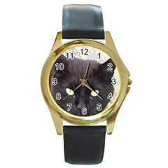 Manx Round Gold Metal Watch