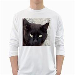 Manx White Long Sleeve T-Shirts