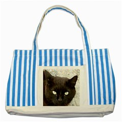 Manx Striped Blue Tote Bag