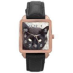 Manx Rose Gold Leather Watch