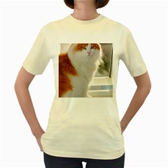 Norwegian Forest Cat Sitting 4 Women s Yellow T-Shirt