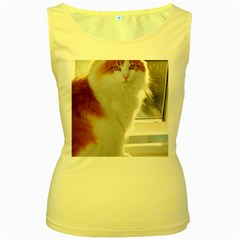 Norwegian Forest Cat Sitting 4 Women s Yellow Tank Top