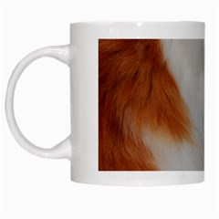 Norwegian Forest Cat Sitting 4 White Mugs