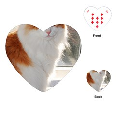 Norwegian Forest Cat Sitting 4 Playing Cards (Heart)