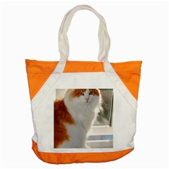 Norwegian Forest Cat Sitting 4 Accent Tote Bag