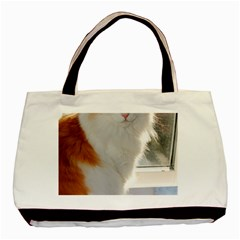 Norwegian Forest Cat Sitting 4 Basic Tote Bag (Two Sides)