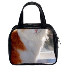 Norwegian Forest Cat Sitting 4 Classic Handbags (2 Sides)