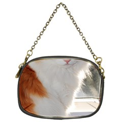 Norwegian Forest Cat Sitting 4 Chain Purses (One Side)