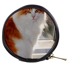 Norwegian Forest Cat Sitting 4 Mini Makeup Bags