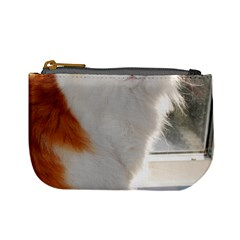 Norwegian Forest Cat Sitting 4 Mini Coin Purses