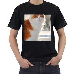 Norwegian Forest Cat Sitting 4 Men s T-Shirt (Black)