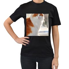 Norwegian Forest Cat Sitting 4 Women s T-Shirt (Black)