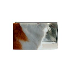 Norwegian Forest Cat Sitting 4 Cosmetic Bag (Small)