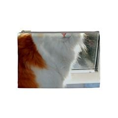 Norwegian Forest Cat Sitting 4 Cosmetic Bag (Medium)