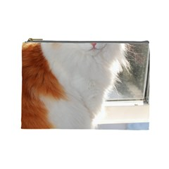 Norwegian Forest Cat Sitting 4 Cosmetic Bag (Large)