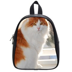 Norwegian Forest Cat Sitting 4 School Bags (Small)
