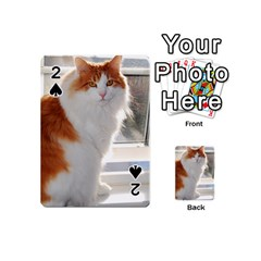 Norwegian Forest Cat Sitting 4 Playing Cards 54 (Mini)