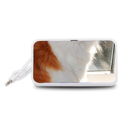 Norwegian Forest Cat Sitting 4 Portable Speaker (White)