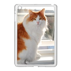 Norwegian Forest Cat Sitting 4 Apple iPad Mini Case (White)