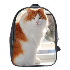 Norwegian Forest Cat Sitting 4 School Bags (XL)