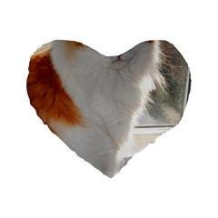 Norwegian Forest Cat Sitting 4 Standard 16  Premium Heart Shape Cushions
