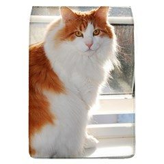 Norwegian Forest Cat Sitting 4 Flap Covers (L)