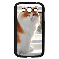 Norwegian Forest Cat Sitting 4 Samsung Galaxy Grand DUOS I9082 Case (Black)