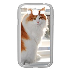 Norwegian Forest Cat Sitting 4 Samsung Galaxy Grand DUOS I9082 Case (White)