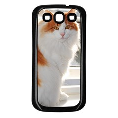 Norwegian Forest Cat Sitting 4 Samsung Galaxy S3 Back Case (Black)