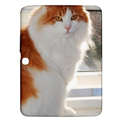 Norwegian Forest Cat Sitting 4 Samsung Galaxy Tab 3 (10.1 ) P5200 Hardshell Case