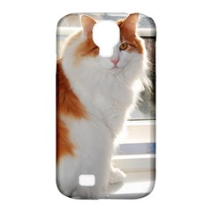 Norwegian Forest Cat Sitting 4 Samsung Galaxy S4 Classic Hardshell Case (PC+Silicone)