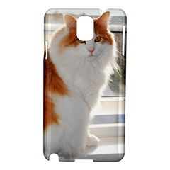 Norwegian Forest Cat Sitting 4 Samsung Galaxy Note 3 N9005 Hardshell Case