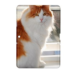 Norwegian Forest Cat Sitting 4 Samsung Galaxy Tab 2 (10.1 ) P5100 Hardshell Case