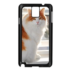Norwegian Forest Cat Sitting 4 Samsung Galaxy Note 3 N9005 Case (Black)