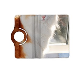 Norwegian Forest Cat Sitting 4 Kindle Fire HD (2013) Flip 360 Case