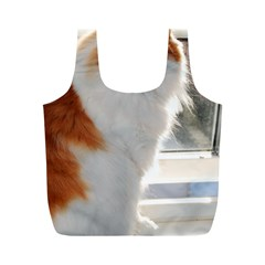 Norwegian Forest Cat Sitting 4 Full Print Recycle Bags (M)