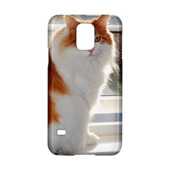 Norwegian Forest Cat Sitting 4 Samsung Galaxy S5 Hardshell Case