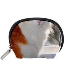 Norwegian Forest Cat Sitting 4 Accessory Pouches (Small)
