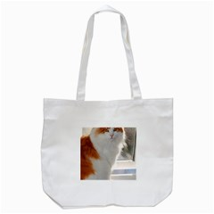 Norwegian Forest Cat Sitting 4 Tote Bag (White)