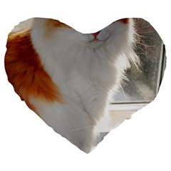 Norwegian Forest Cat Sitting 4 Large 19  Premium Flano Heart Shape Cushions