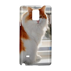 Norwegian Forest Cat Sitting 4 Samsung Galaxy Note 4 Hardshell Case