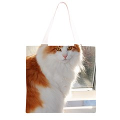 Norwegian Forest Cat Sitting 4 Grocery Light Tote Bag