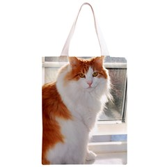 Norwegian Forest Cat Sitting 4 Classic Light Tote Bag