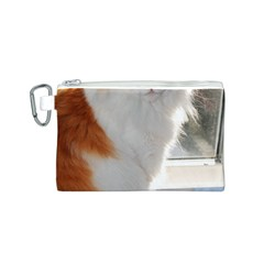 Norwegian Forest Cat Sitting 4 Canvas Cosmetic Bag (S)