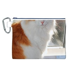Norwegian Forest Cat Sitting 4 Canvas Cosmetic Bag (L)