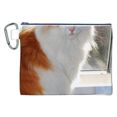 Norwegian Forest Cat Sitting 4 Canvas Cosmetic Bag (XXL)