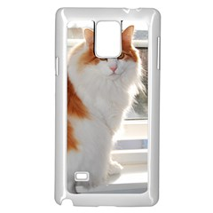 Norwegian Forest Cat Sitting 4 Samsung Galaxy Note 4 Case (White)