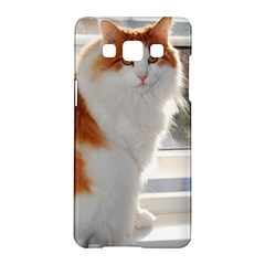 Norwegian Forest Cat Sitting 4 Samsung Galaxy A5 Hardshell Case