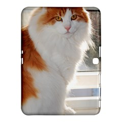 Norwegian Forest Cat Sitting 4 Samsung Galaxy Tab 4 (10.1 ) Hardshell Case